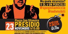 Spegni la miccia al DL Salvini! Presidio a Piazza San Silvestro