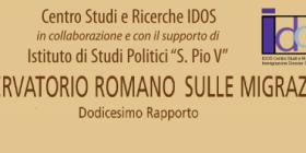 Presentazione dell'Osservatorio Romano sulle Migrazioni – Dodicesimo Rapporto