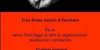 Per la messa fuori legge di tutte le organizzazioni neofasciste e neonaziste