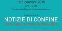 MEDIA E IMMIGRAZIONE: CARTA DI ROMA PRESENTA 'NOTIZIE DI CONFINE'