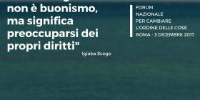Per Cambiare l'Ordine delle Cose – Forum Nazionale Roma