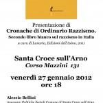 Cronache di ordinario razzismo a Santa Croce sull'Arno