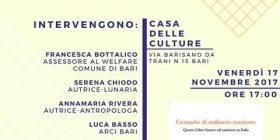 Presentazione del quarto libro bianco sul razzismo a Bari